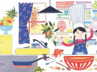 Mathilde apprend à cuisiner